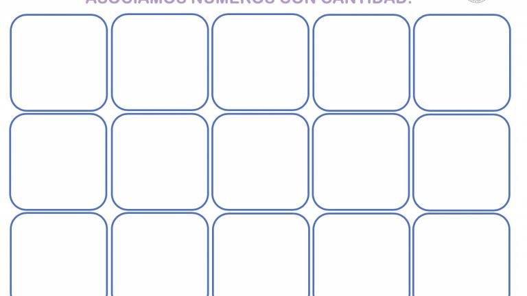 Tabla de asociación de números, dedos y manos