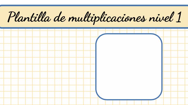 Plantilla de multiplicaciones nivel 1