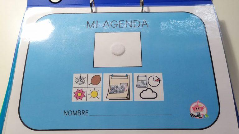 Agenda individual para el aula TEA